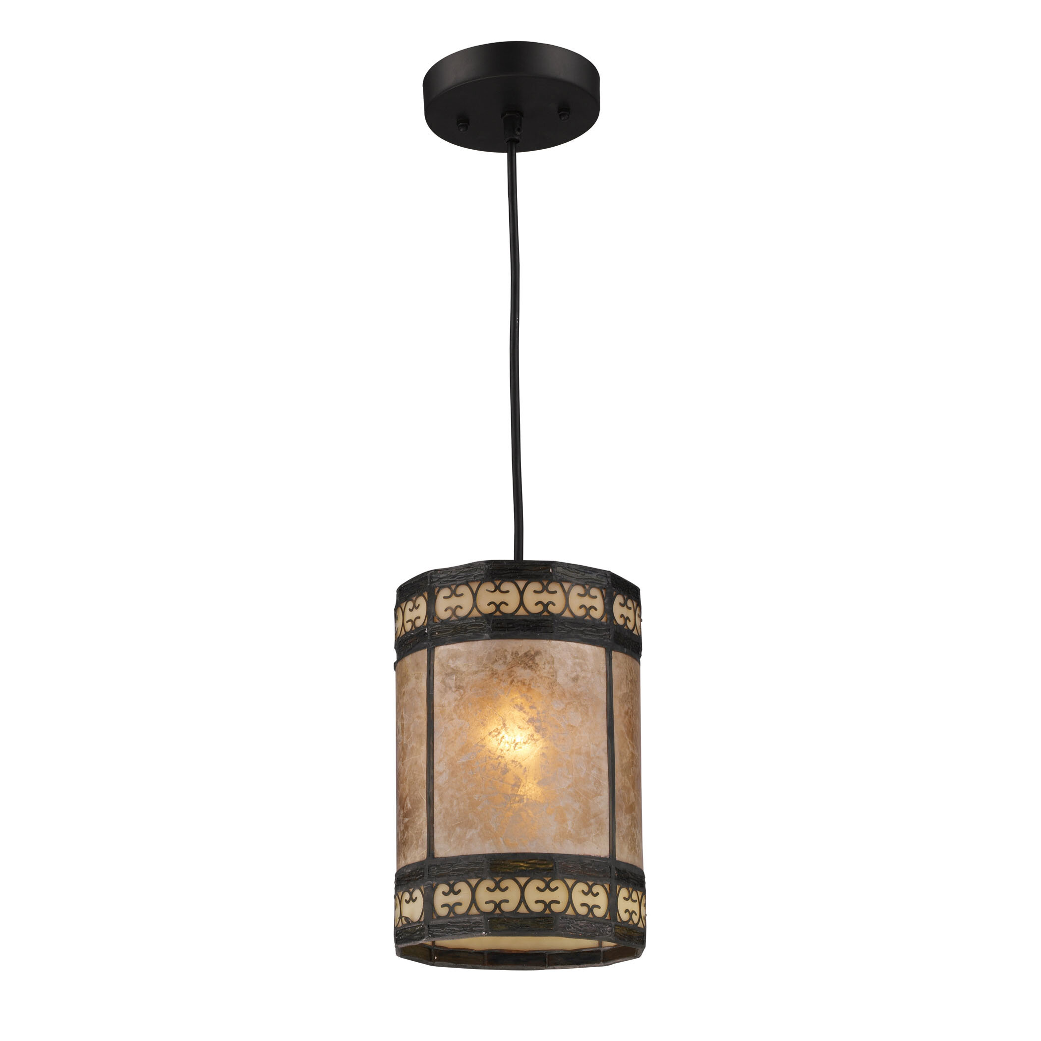 Fleur De Lis Living Raglin 1 Light Single Cylinder Pendant Wayfair