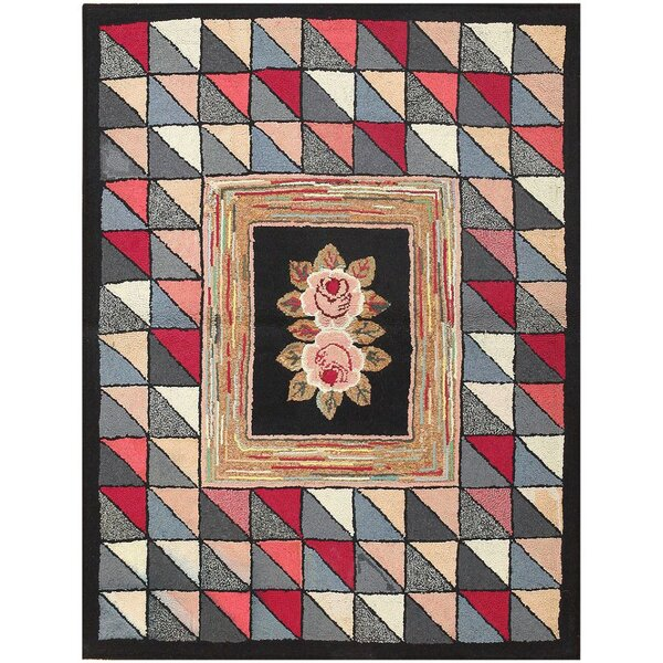 J Nazmiyal Inc American Hooked Antique Black Red Area