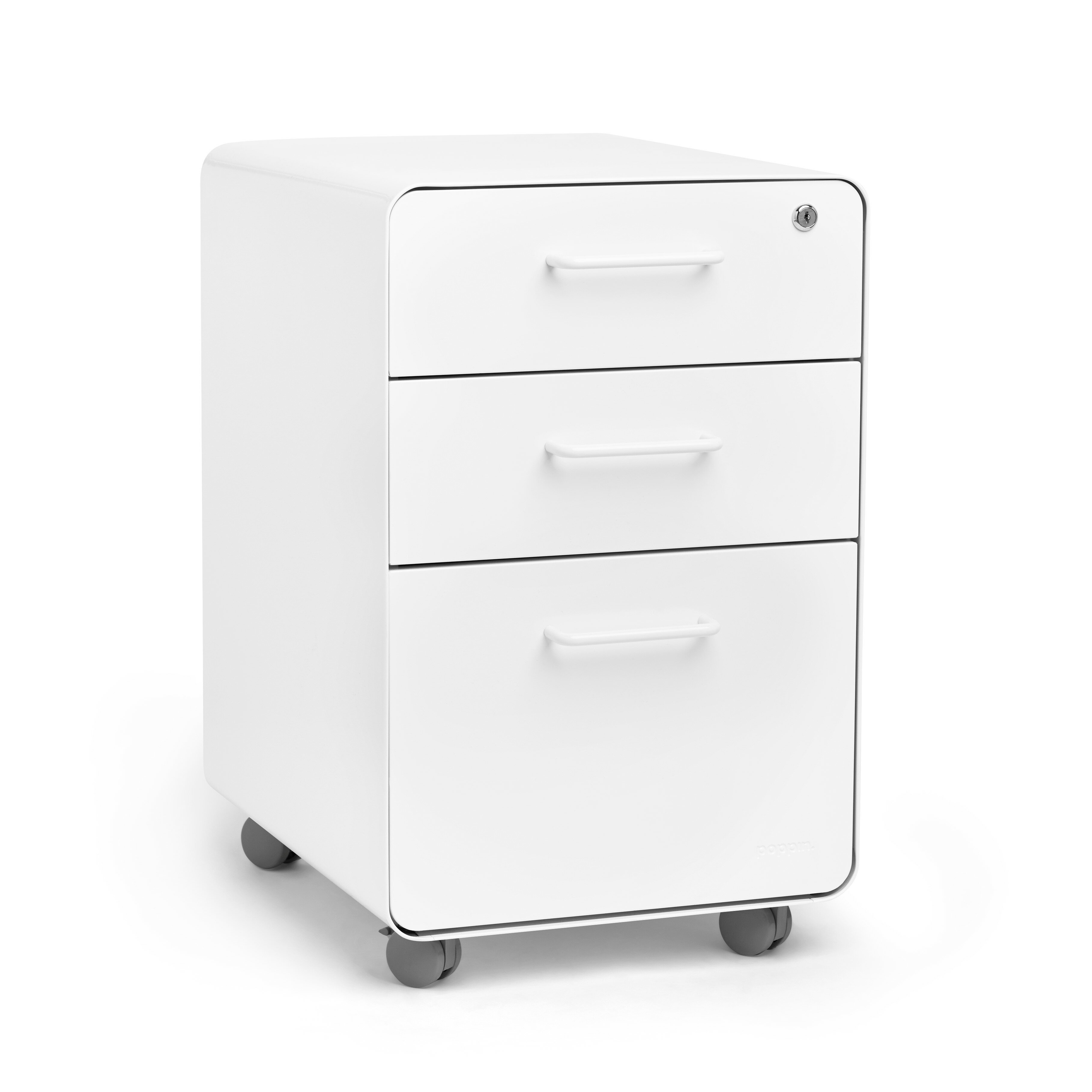 Stow 3 Drawer Mobile Vertical Filing Cabinet Reviews Allmodern