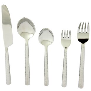 Decarlo 5 Piece Stainless Steel Flatware Set, Service for 1
