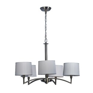Ebern Designs Lilith 5-Light Shaded Chandelier