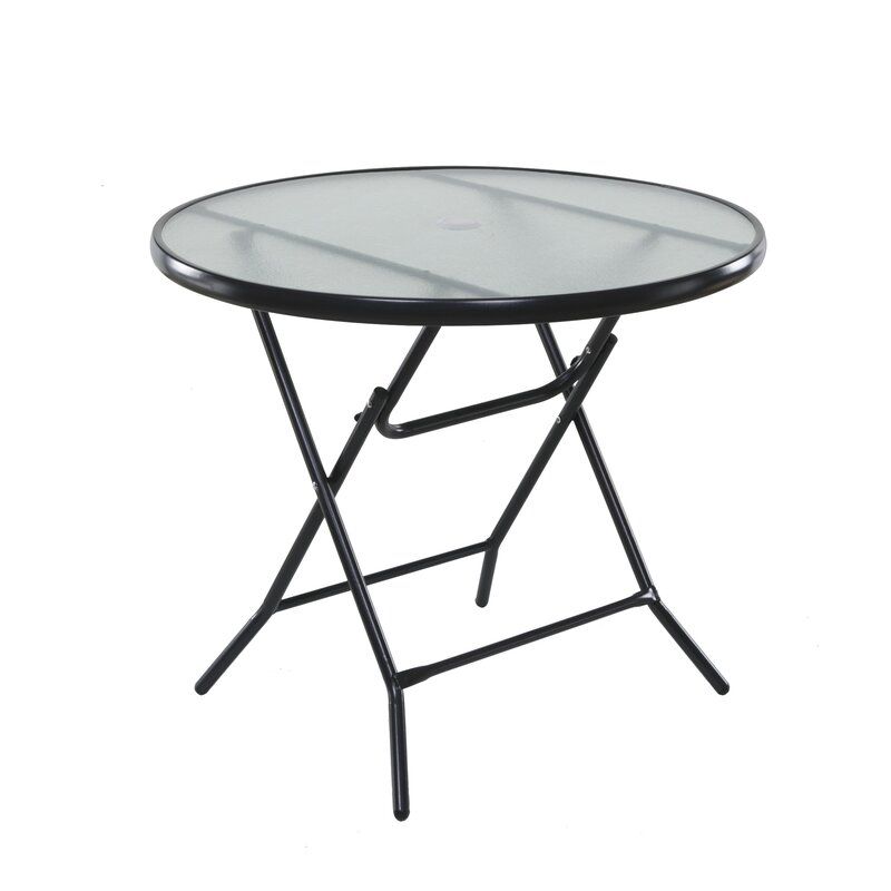 Beau Vargas Folding Glass Bistro Table