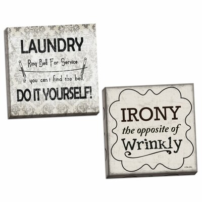 Trendy decor 4u post cards 2 piece framed graphic art print set traditional irony and laundry do it yourself 2 piece textual art set solutioingenieria Image collections