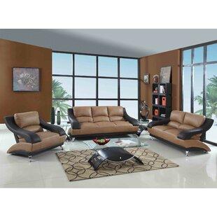 Latitude Run Henshaw Luxury 3 Piece Living Room Set
