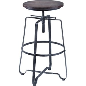 Jaqueline Adjustable Height Bar Stool by 17 Stor..