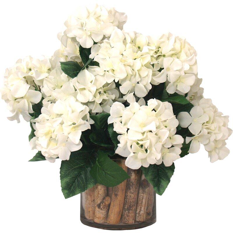 Creative Displays Inc Hydrangea Floral Arrangement In Pot Reviews Perigold