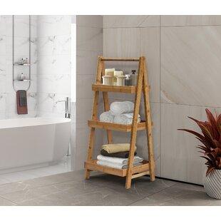 Branxton 15 W x 33 H x 1375 D Solid Wood FreeStanding Bathroom Shelves by Red Barrel Studio