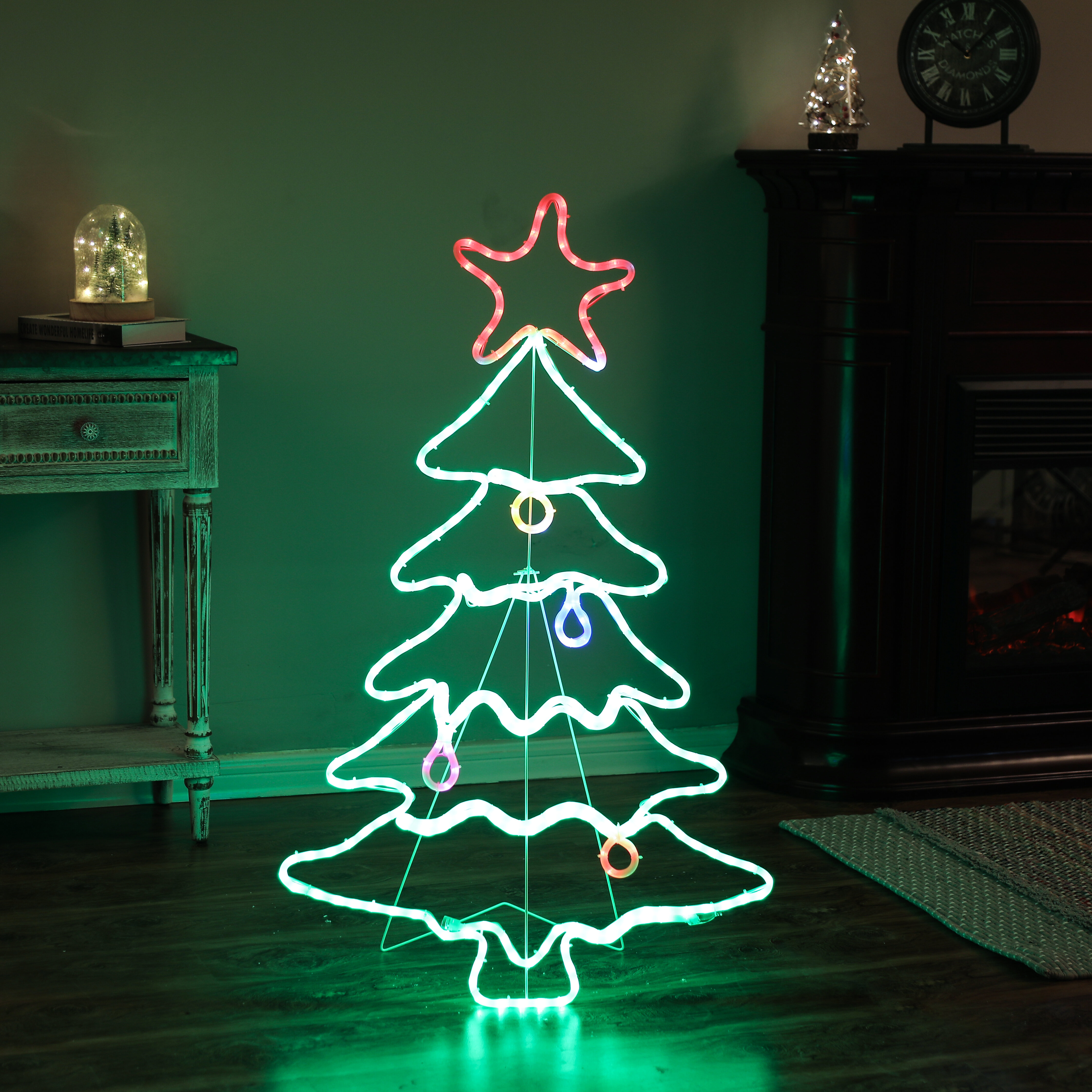 Tree Indoor Outdoor Christmas Lighted Display