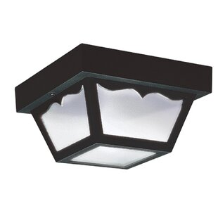 Great Price FinanceCeiling 1-Light Outdoor Flush Mount By Highland Dunes