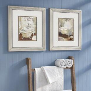 Merveilleux U0027Guest Bathroomu0027 2 Piece Framed Painting Print Set