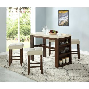 Lecenta 5 Piece Pub Table Set ..