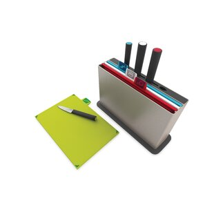 Index™ Advance Chopping Board Set with Knives (Set of 4)