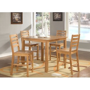 Café 5 Piece Counter Height Dining Set Wooden Importers
