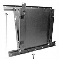 Lateral Shift Accessory for Flat Panel Wall Mounts