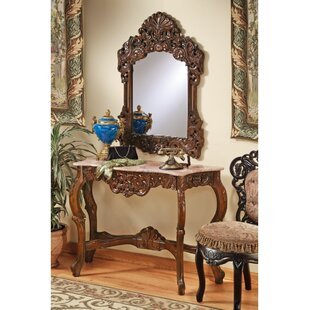 Design Toscano The Dordogne Console Table and Mirror Set