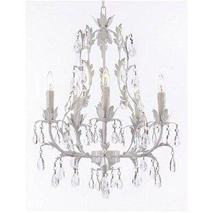 House of Hampton Moline Floral 5-Light Chandelier