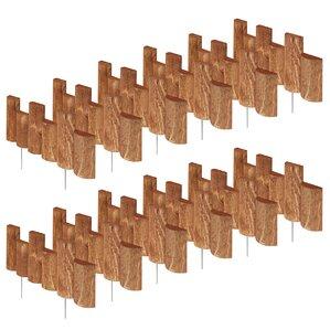 7 in. x 18 in. 12 Pack Half Log Edging (S..