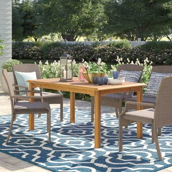 Rosecliff Heights Wilfred Solid Wood Dining Table Wayfair