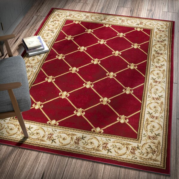 Colindale Fleur De Lis Red Area Rug Amp Reviews Birch Lane