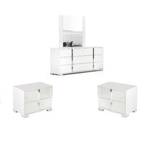 Demaria 6 Drawer Double Dresser and 2 Drawer Nightstands Set by Orren Ellis