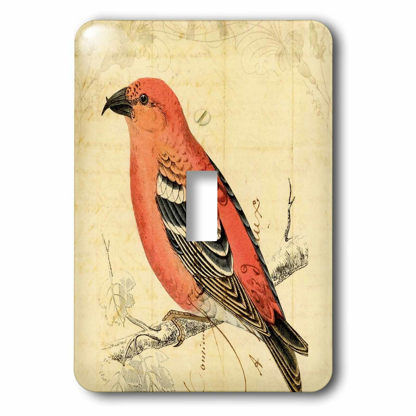 3drose Bird 1 Gang Toggle Light Switch Wall Plate Wayfair