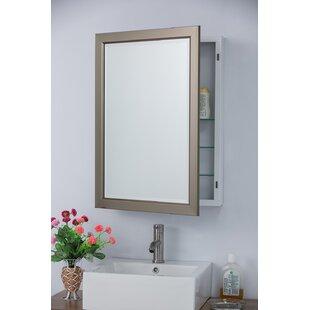 Moreland 22 x 30 Surface Mount Framed Medicine Cabinet with 3 Adjustable Shelves ByWrought Studio