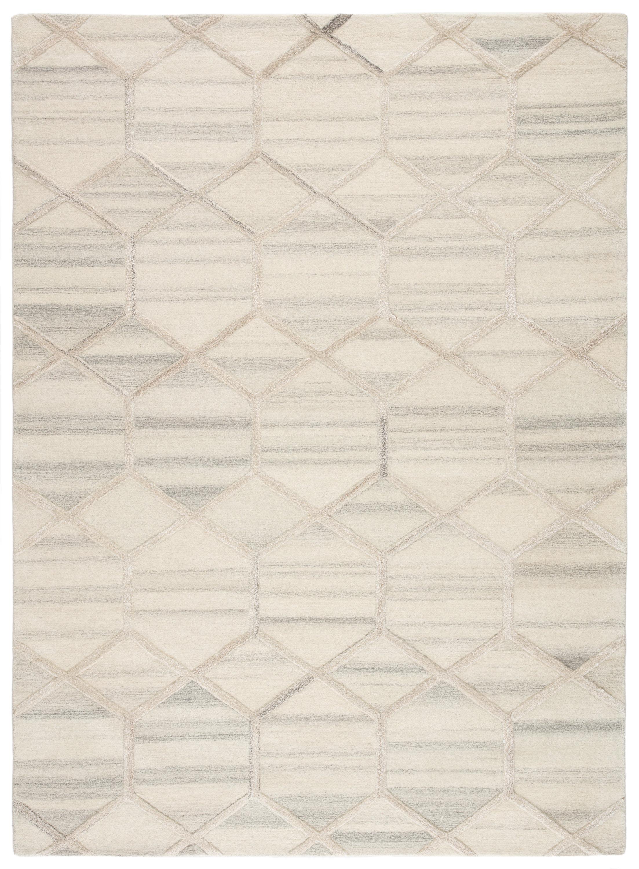 Tulsa Striped Geometric Handmade Tufted