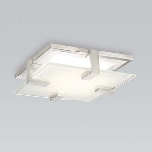 Orren Ellis Megerle LED 1 Light Flush Mount