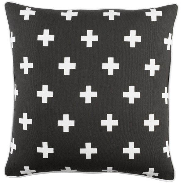 Antonia Cross Cotton Throw Pillow Cover & Reviews