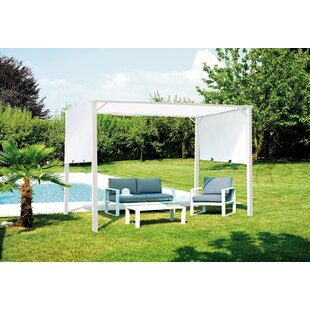 Lowes 3.5m X 2.5m Metal Pergola By Sol 72 Outdoor