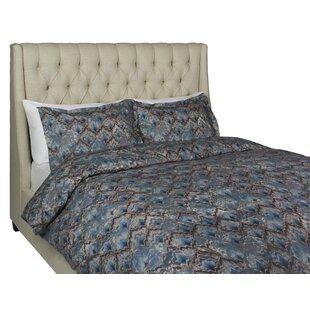Culligan 100% Cotton 3 Piece Reversible Duvet Cover Set