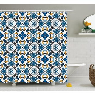 Classic Tilework Decor Single Shower Curtain