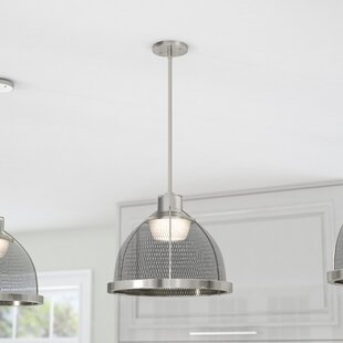Savings Helene 1-Light  LED Dome Pendant By Laurel Foundry Modern Farmhouse