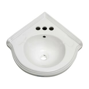 Best Corner 22 Wall Mount Bathroom Sink with Overflow By The Renovators Supply Inc.