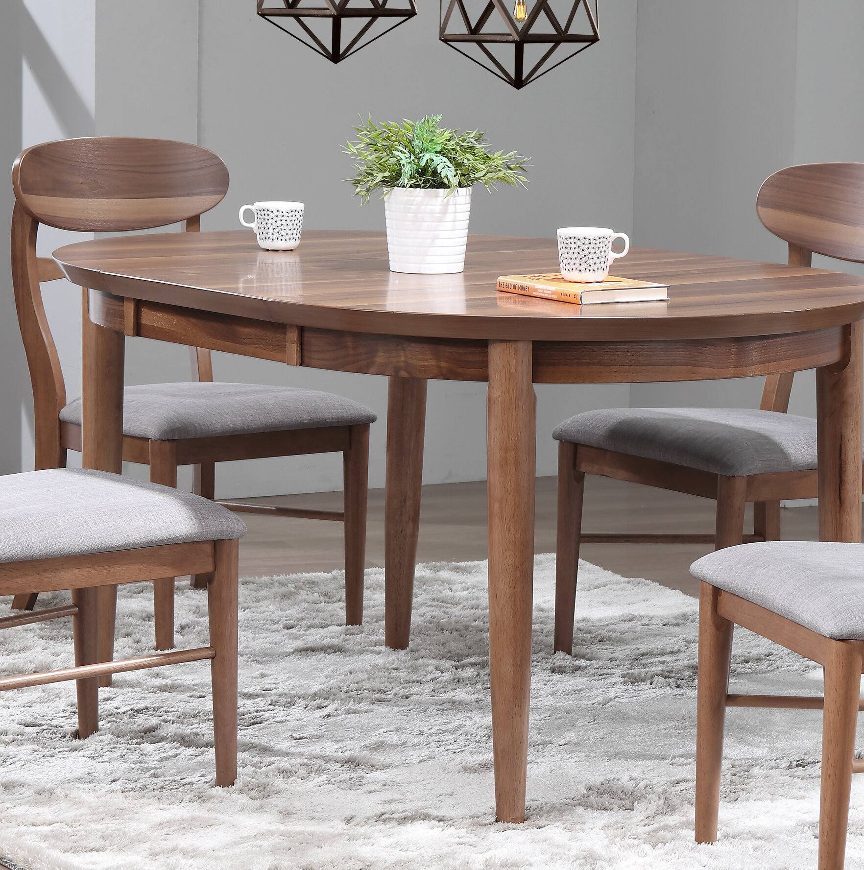 George oliver chau extendable dining table wayfair