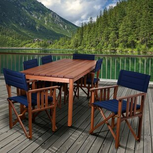 Beachcrest Home Foss Patio 7 Piece Dining Set