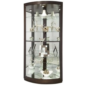 Gillian Lighted Corner Curio Cabinet