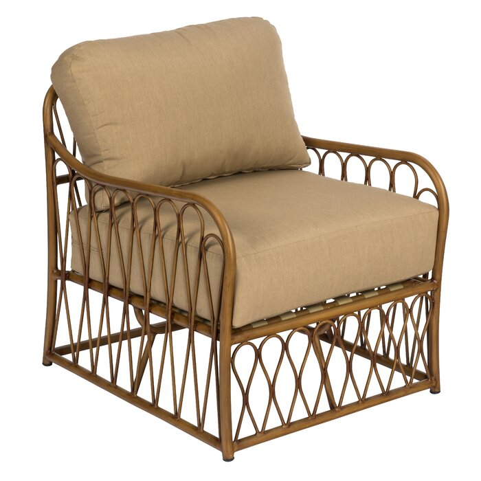 Wondrous Cane Patio Chair With Cushions Ibusinesslaw Wood Chair Design Ideas Ibusinesslaworg