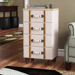Rowan Padded 4 Drawer Accent Chest