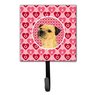 Border Terrier Valentine's Love and Hearts Leash Holder and Wall Hook by Caroline's Treasures