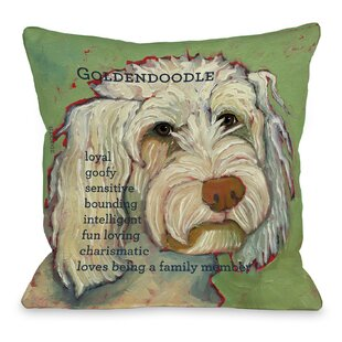 Doggy Golden Doodle Throw Pillow