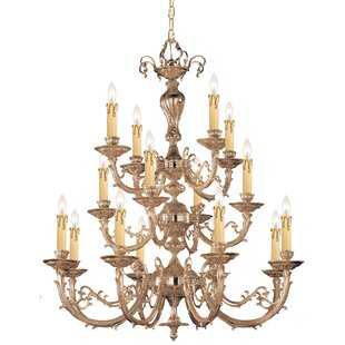 House of Hampton Aureolin 16 Light Candle Chandelier