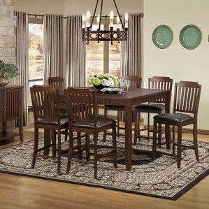 Lynn 7 Piece Dining Set by Alcott Hill