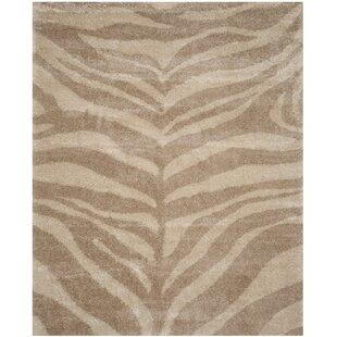 Find Blumefield Shag Ivory/Beige Area Rug By Willa Arlo Interiors