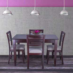 Goris 5 Piece Solid Wood Dining Set by Re..