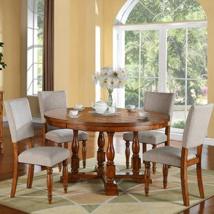 World Menagerie Sayles Solid Wood Dining ..