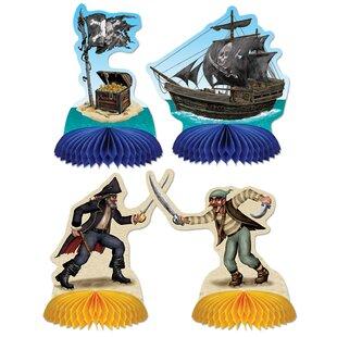 Pirate Mini Paper Disposable Centerpieces