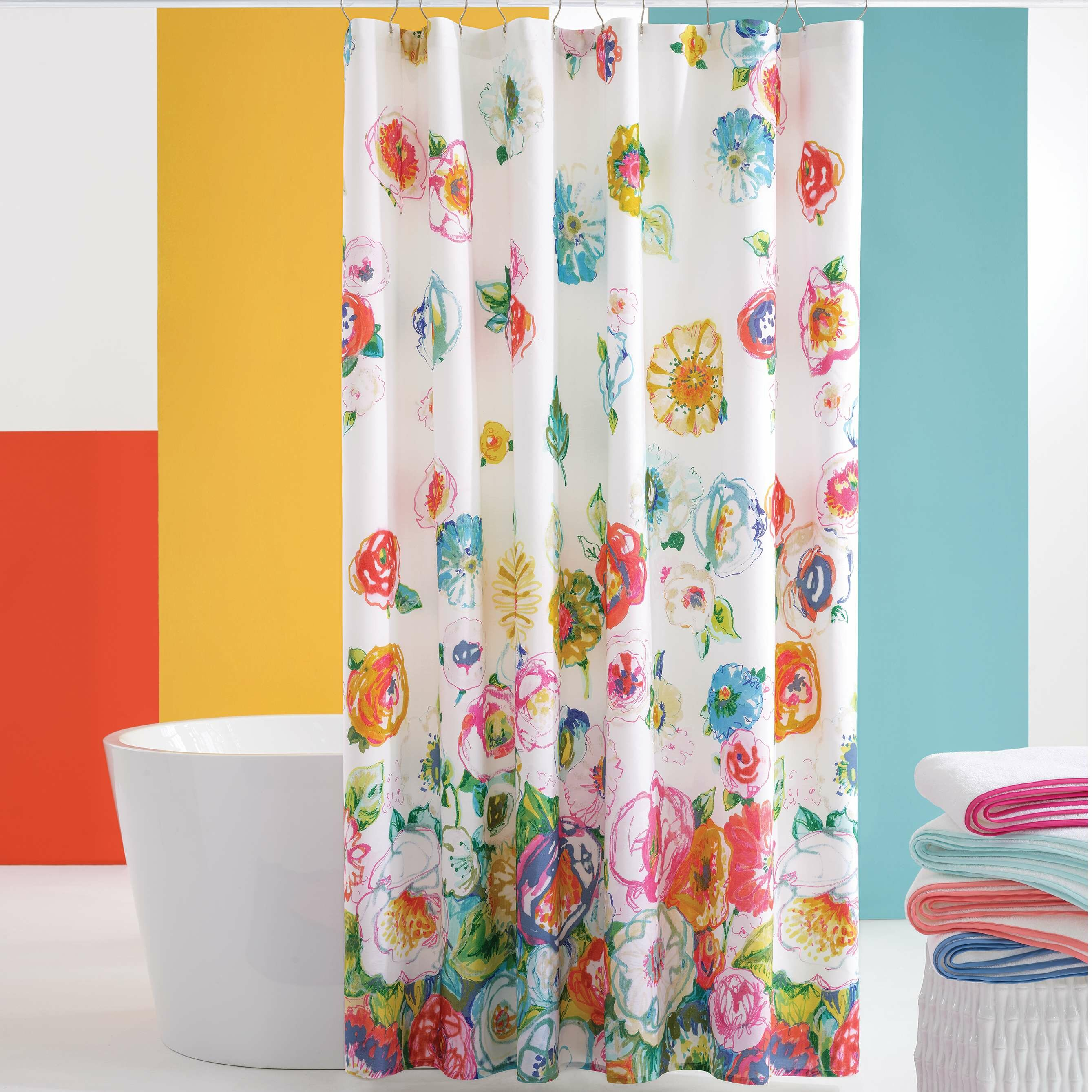 Pine Cone Hill Flower 100 Cotton Floral Single Shower Curtain Perigold