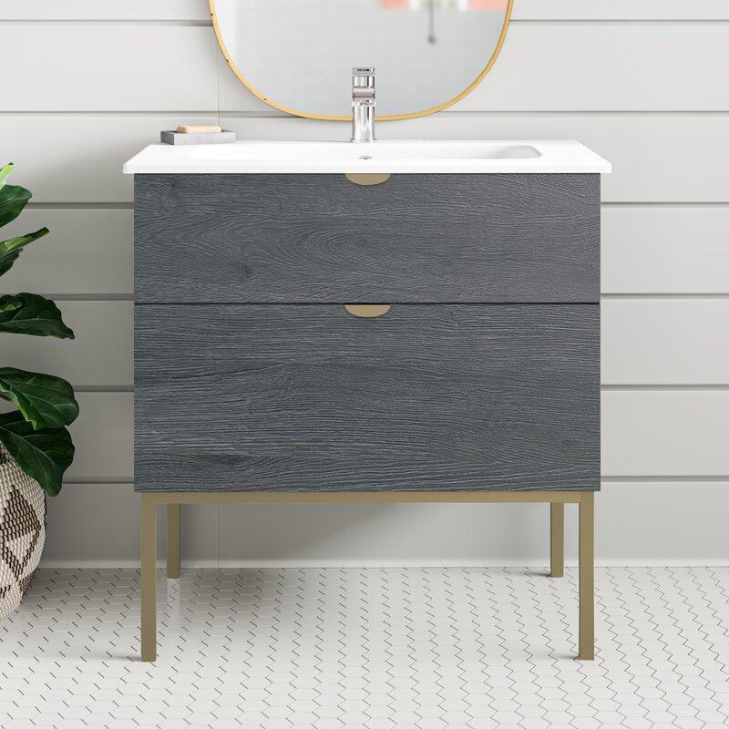 George Oliver Modern 32 Single Bathroom Vanity Set Reviews Wayfair