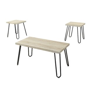 Safira 3 Piece Coffee Table Set
